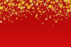 Vector golden Chinese New Year coins background.  vector illustration