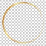 Golden circle crayon frame, at transparent effect background. Vector golden circle crayon frame, at transparent effect background stock illustration