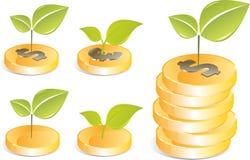 Vector golden coins Stock Photo