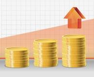 Vector golden coins Stock Photography