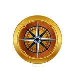 Vector of golden compass eps icon logo download Stock Image
