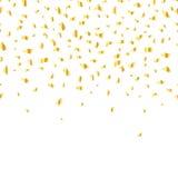 Vector golden confetti Stock Photo