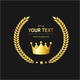 Vector golden crown Stock Images