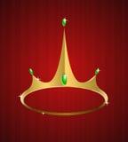 Vector golden crown with diamonds Stock Photos