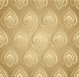 Vector golden damask wallpaper Royalty Free Stock Photos