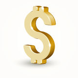 Vector golden dollar sign Stock Photography