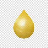 Vector Golden Drop Isolated Icon, 3D Realistic Illustration. vector illustration