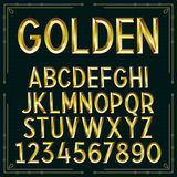 Vector Golden Embossed Font Royalty Free Stock Image