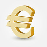 Vector golden euro sign Stock Image
