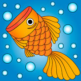 Vector of golden fish royalty free stock photo