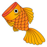 Vector of golden fish, isolated royalty free stock image