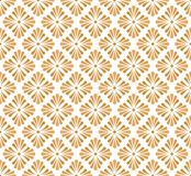 Vector Golden Floral Ornamental Seamless Pattern. Geometric Flower Stylish Texture. Abstract Retro Tile Texture. Classic Art Deco Seamless Pattern. Geometric vector illustration