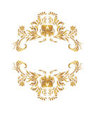 Vector golden floral pattern. Royalty Free Stock Image