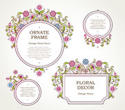 Vector golden frame in Eastern style. Royalty Free Stock Photos