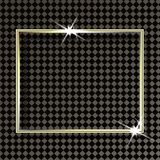 Golden frame with lights effects. Isolated on transparent background Royalty Free Stock Photography