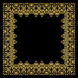 Vector golden frame. Square vintage card for design. Premium background in luxury style. Royalty Free Stock Image