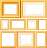 Vector golden frames stock images
