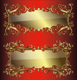 Vector golden frames and borders Stock Photo