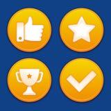 Vector golden gamification badges Stock Photos