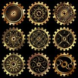 The steampunk gears royalty free illustration
