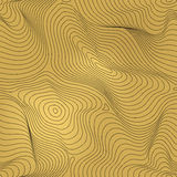 Vector golden geometric seamless pattern, gold foil background. Vector golden geometric seamless pattern, curved lines, gold foil background with 3D visual Royalty Free Stock Images
