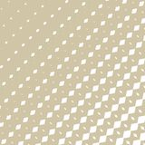 Vector golden halftone pattern with fading shapes, rhombuses, diagonal lines vector illustration