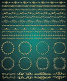 Vector Golden Hand Sketched Seamless Borders Royalty Free Stock Photos