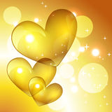 Vector golden heart Royalty Free Stock Images