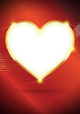 Vector Golden Heart background Royalty Free Stock Photo
