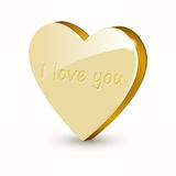 Vector golden heart Stock Photo