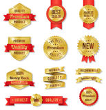 Vector Golden Label Set2 Royalty Free Stock Photos