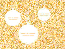Vector golden lace roses Christmas ornaments Royalty Free Stock Image