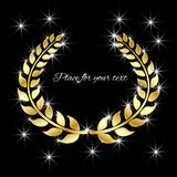 Vector Golden Laurel wreath with a glare. The concept is a symbol of victory award of success. vector illustration