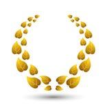 Vector golden laurel wreath for winner Royalty Free Stock Image