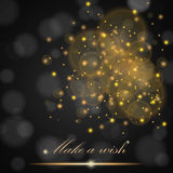 Vector golden lights concept abstract on black ambient blurred background Stock Photo
