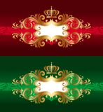 Vector golden luxury frames with crown Stock Images