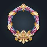 Vector golden monogram. Luxurious decorative frame. Wedding invitation. Elegant lines of calligraphic ornament. vector illustration
