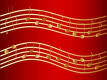 Vector golden music notes Royalty Free Stock Photography