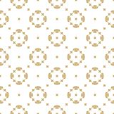 Vector golden seamless pattern in oriental style. White and gold ornament. Geometric shapes in diagonal grid. Stock Illustration
