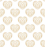Vector golden ornate seamless pattern with eastern ornament. Stock Image
