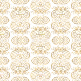 Vector golden ornate seamless pattern with eastern ornament. Stock Images