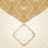 Vector golden pattern in Victorian style. Royalty Free Stock Photos