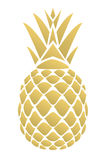 Vector Golden Pineapple Stock Images