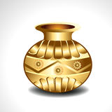 Vector Golden Pot Royalty Free Stock Photos