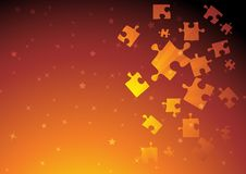 Vector golden puzzle Royalty Free Stock Images