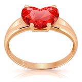 Vector Golden Ring with Ruby Stock Photography