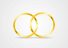 Vector golden rings Royalty Free Stock Photo