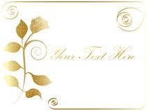 Vector golden rose frame Stock Images