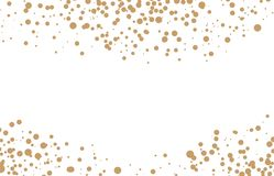 Vector golden round confetti frame isolated on white background. Vector image Royalty Free Stock Photography