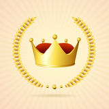 Vector golden royal crown Stock Images